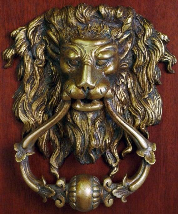 Lion head door knocker large x - Large lion head door knocker ...