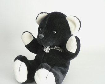 Kids Black and White Fur Teddy Bear