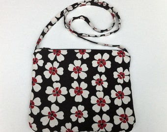 Shoulder Purse With Zipper In Japanese Fabric