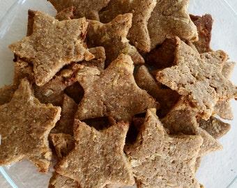 Organic Apple and Peanut Butter Dog Treats.