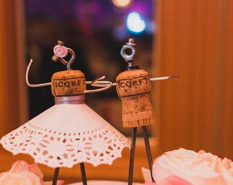 Champagne Cork Cake Topper (Weddings, Engagement Parties, Bridal Showers, Rehearsal Dinners, etc!)