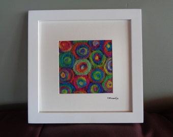 Felt Art Colorful Wool Circles
