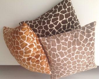 Neck pillow - Home decor pillow –Giraffe Neck pillow - Bed pillow - Safary style pillow – African style pillow - Brown pillow- Orange pillow
