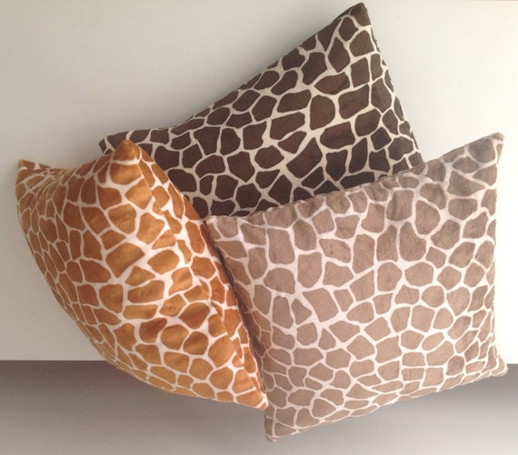 Giraffe Decorative Pillow : Items similar to Neck pillow - Home decor pillow ?Giraffe Neck pillow - Bed pillow - Safary ...