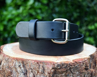 Cristopher Handmade Black Leather Belt