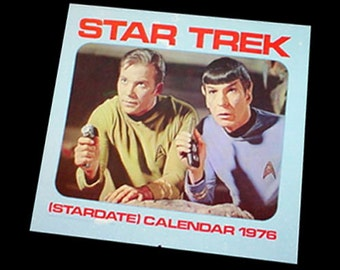 Star Trek 1976 Wall Calendar with Original Box