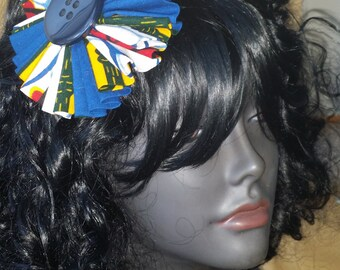 Multicolor Ankara Fabric Flower Hair Piece