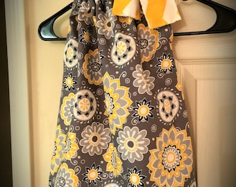 Gray & Yellow Pillowcase Dress!