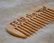 Personalized wooden comb. Fear the beard. Engraved comb. For men, for him. Beard comb, moustache comb, hair comb Idea for gift Dad gift