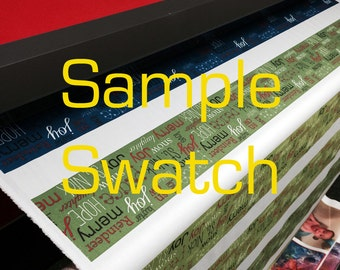 Custom Printed Fabric SWATCH - Your design - 100% cotton duck 7 oz weight