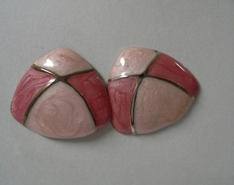 Pink and Coral Vintage Earrings