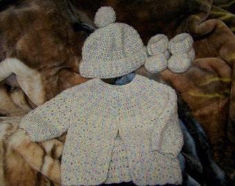 Newborn 3 piece Sweater Set