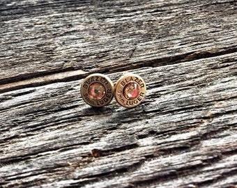 Brass 9mm stud earrings