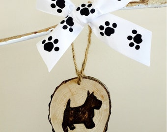 Scottish Terrier ornament (can be personalized)