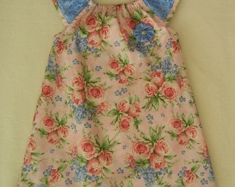 Girls Flutter Sleeve Dress Size 4