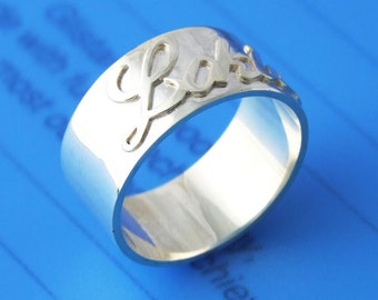 Sterling 925 Silver Name Ring -  Any Name Can Be Made in Any Language