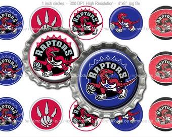 Toronto Raptors Nba Bottle Cap Images 1 Inch Size