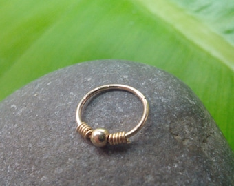 Tiny Nose Ring ,24, 22 ,20 Gauge Nose Ring , gold nose ring,small gold hoop