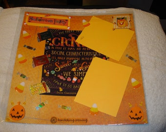 Premade 12x12 Scrapbook Page - HALLOWEEN