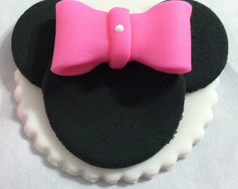 Mini Mouse  cupcake toppers