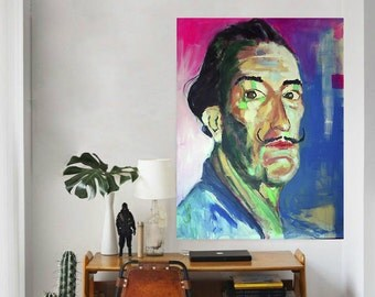 Dali, acrylic on canvas by 130x93cm.