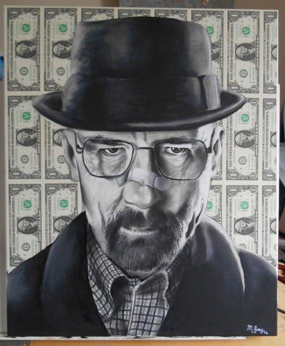 Breaking bad original artwork.Heisenberg Walter