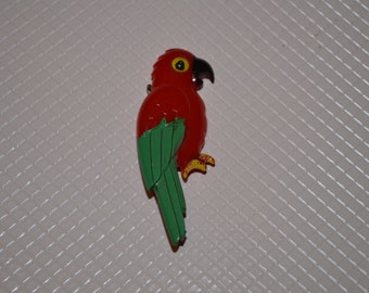 Rare 1960s Celluloid Parrot Pin