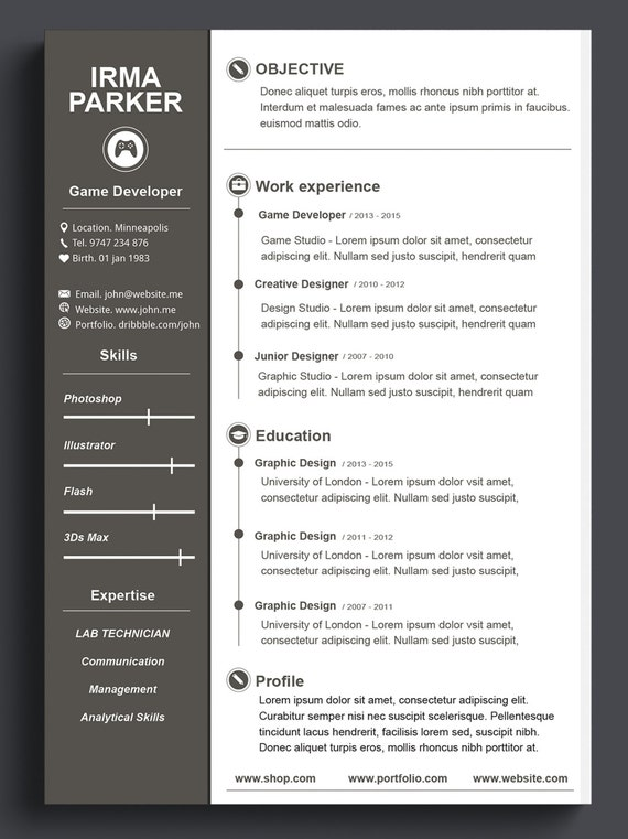 custom resume template cv templateresume template
