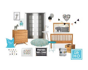 Kids Boy Bedroom Project. Interior Design Service. E Design, Mood Board. On Part 87