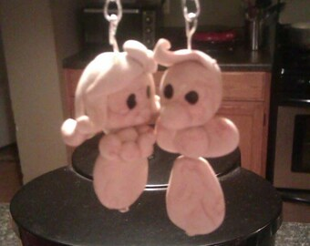 His and Hers DIY Paintable Clay Keychain bundle PLEASE read DESCRIPTION