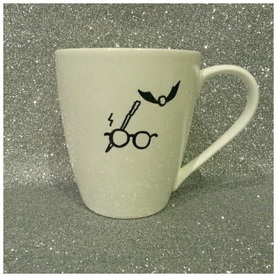 Harry's Signature with The Grim inside - Harry Potter Mug