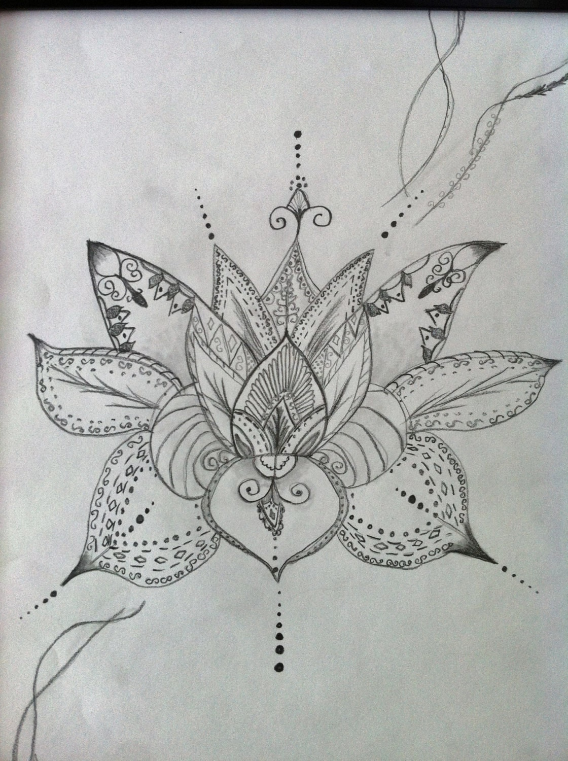 Lotus Flower Drawing Henna 2018 Images Pictures Simple Black