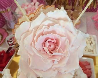 Large wedding cake flowers, rose cake toppers