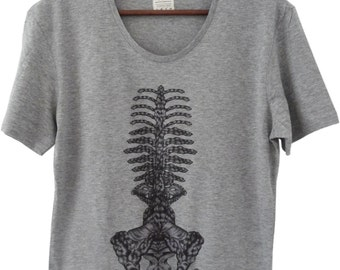 T-shirt • BRAIDED spine (grey) - limited - Collection