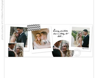 INSTANT DOWNLOAD - Facebook cover template for four photos - A1459