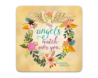 Every Day Spirit Magnet / Angels / Fridge Magnet / Inspirational Quote / Life Quote / Refrigerator Magnet