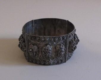 Antique Indian Metal Cuff Bracelet