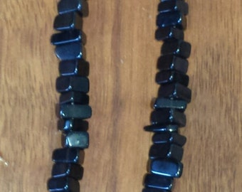 Obsidian bead necklace