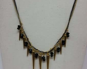 Punky Chain and Spike Necklace