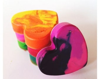 Heart Crayons , crayon favors, party favors