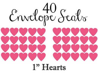 40 Envelope Seals - You pick your color