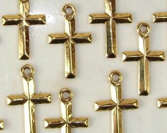 Gold Destash - Cross earrings