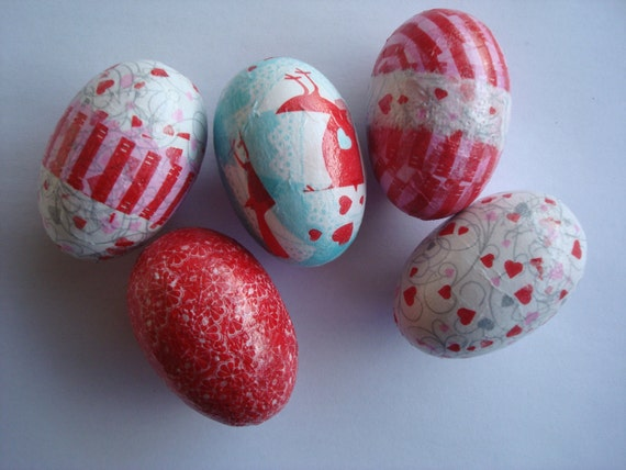 Heart easter eggs