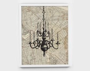 CHANDELIER, art, decor, wall art, printable, decoration, print, INSTANT DOWNLOAD