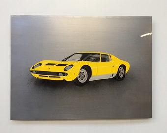 Lamborghini Miura painting on Steel