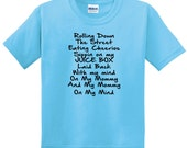 Rolling Down the Street Children T-Shirt Cherrios and Juice Box Snoop Dog Toddler Girls Clothing Toddler Boy Clothing