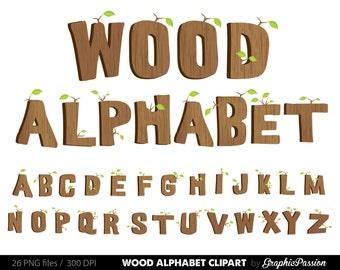 Wood alphabet clipart Wood Digital alphabet letters Wood clipart Digital letters Clip art alphabet Clip art letters clipart