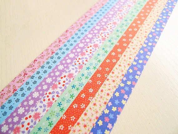 Origami lucky star folding paper floral assorted by for Lucky star folding