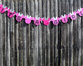 Its A Girl Minnie Mouse Banner - baby shower - disney - Party Decoration