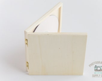 Set of 20 Wood/Wooden DVD or CD Disk Box Holder